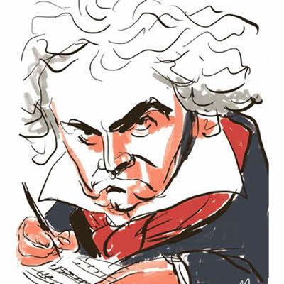 Beethoven - Tegnet af Mette Dreyer
