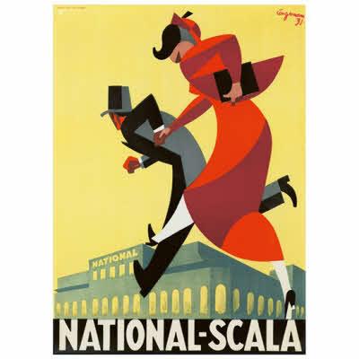 Plakat, National Scala 1931, inkl. indramning