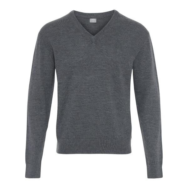 frederik sweater care by me merino uld dark grey