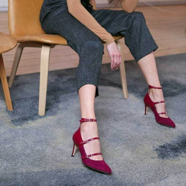 Roccamore, Grace red suede pump