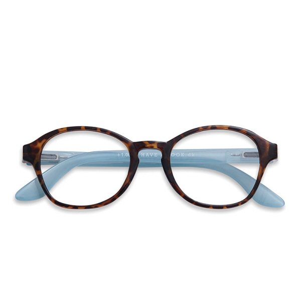 Have A Look læsebrille Circle_horn_blue.