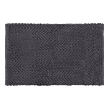 Herringbone PET Doormat, Dark Grey / mørkegrå 80x50