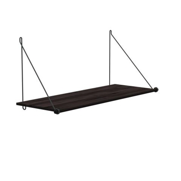Loop Shelf Dark, sort metal