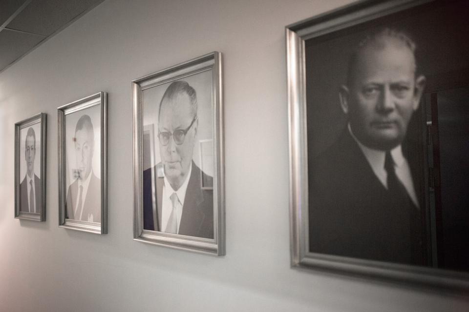Det er i skyggen af sine fire forfædre, at Erick Türmer driver virksomheden, der er grundlagt af hans oldefar Fritz Thürmer i 1898.