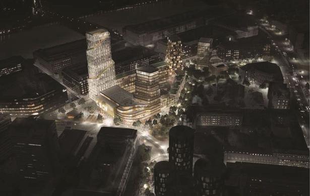 Af bilagene fremgår, hvordan DSB Ejendomme, Nordisk Film Biografer og en privat udvikler forestiller sig, at Paladsgrunden og banegraven ved Vesterport Station skal se ud i fremtiden. Stationen ligger i dag mellem de to venstre højhuse.