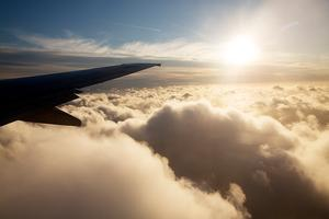 Fly, SAS, himmel, rejse, ferie, skyer, sol.