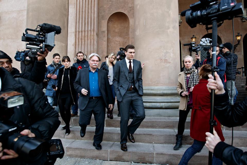 Nicklas Bendtner foran Københavns Byret i 2013. Han var netop blevet idømt en bøde på 842.000 kr og en frakendelse af kørekortet for at køre spritkørsel.