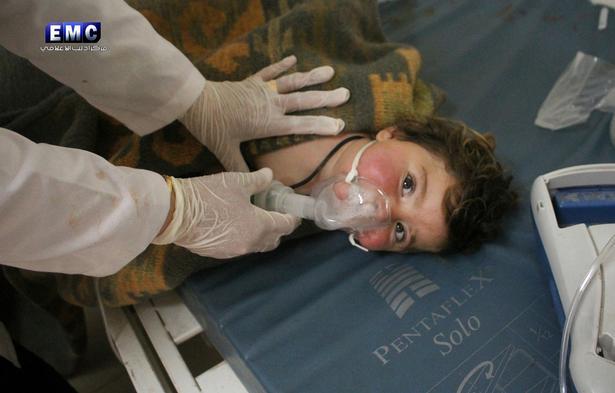 Mange af ofrene ved giftgasangrebet i Syrien tidligere på ugen var børn.