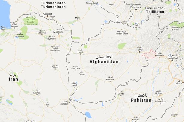 Angrebet skete i Nangahar-provinsen i det østlige Afghanistan. Screendump: Google Maps.