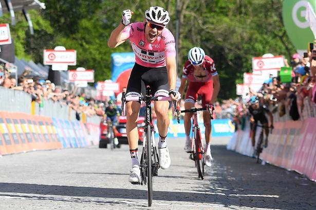 Tom Dumoulin beviste med sejren på etapen til Oropa, at han formår at hævde sig på stigningerne. Foto: La Presse-D'Alberto/Ferrari/Paolone/Spada.
