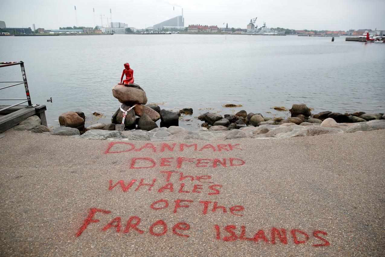 Датская Русалочка пострадала отрук зоозащитников