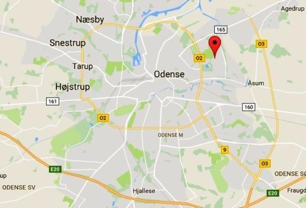 Vollsmose ligger i Odenses nordøstlige udkant.