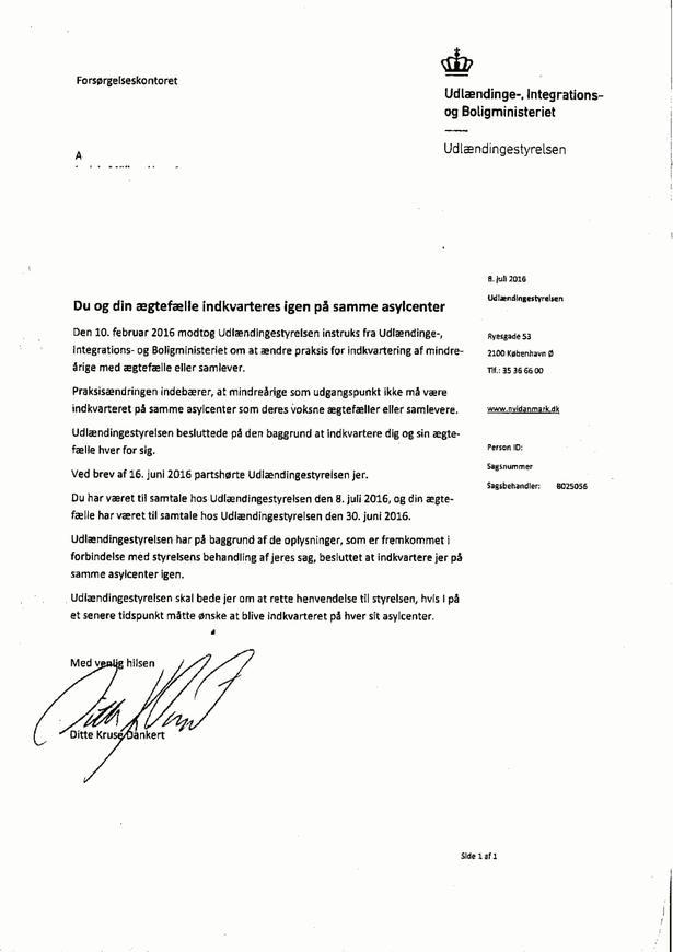 Efter en klage til ombudsmand bliver parrets sag genoptaget af Udlændingestyrelsen, der nu foretager en partshøring og vælger at føre dem sammen igen.