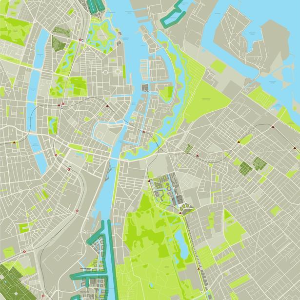 Klik på kortet for at se alle steder, hvor det er lovligt at fiske i København.