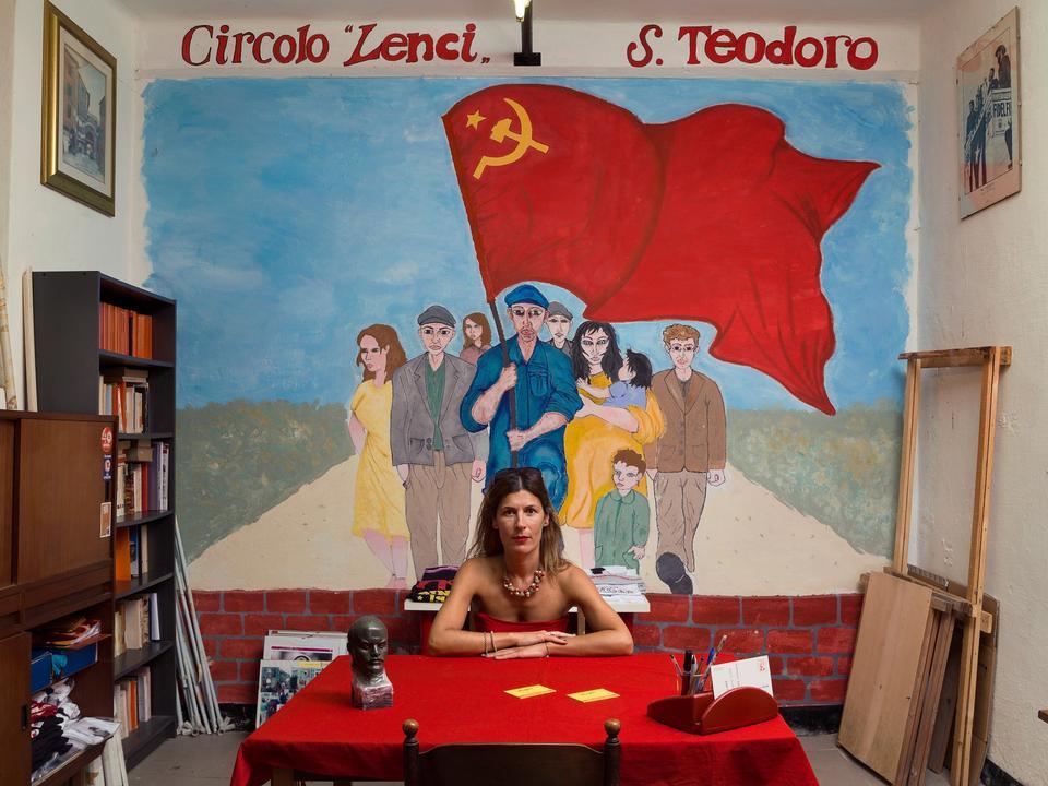Italien. Laura Vari er aktivist i det kommunistiske parti Partito della Rifondazione Comunista.