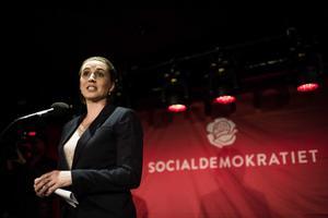 Socialdemokratiet: Mette Frederiksen er ved Socialdemokratiets valgfest på Amager Bio.
