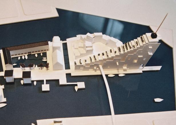 Sådan ser modellen, som Archidea Arkitekter har lavet, ud. Det er ment som indspark i debatten. Der er således ikke et konkret projekt på vej.