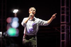 Demokraten Beto O'Rourke udfordrer republikaneren Ted Cruz til en post som sentor i Texas ved næste måneds valg.     Foto: photodesk@splashnews.com World Rights,