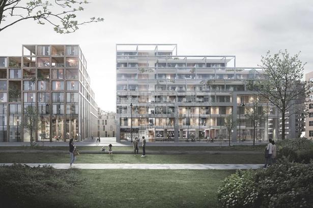 UN17 Village er tegnet af Lendager og Årstiderne Arkitekter for NREP. Den skal ligge på den sidste grund i Ørestad Syd.