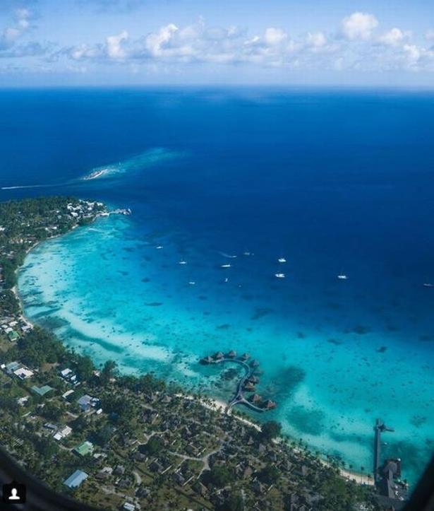 50 nuancer af blå på Rangiroa, som er hovedø i Fransk Polynesien.