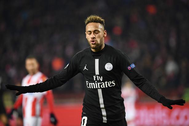 PSG-stjernen Neymar scorede tirsdag aften til 2-0 på Rajko-Mitic stadion i Beograd og sendte sit hold på vej til ottendedelsfinalerne i Champions League.