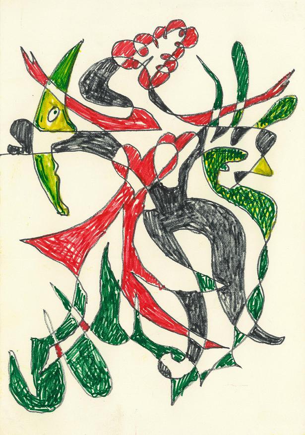 Ove Arups kruseduller udviklede sig indimellem til små kunstværker. Foto: Private Collection