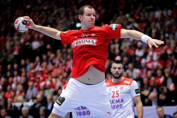 VM i håndbold: Danmark - Norge. Danmarks  Simon Hald.