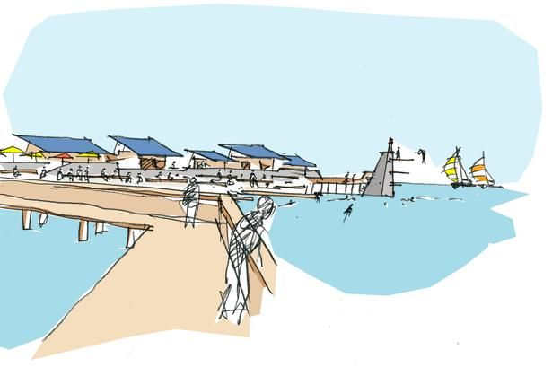 En søbadeanstalt kunne være en af de forbedringer, der kan komme i Køge Bugt Strandpark, når regeringen lemper reglerne for området for at give det store naturområde et løft.