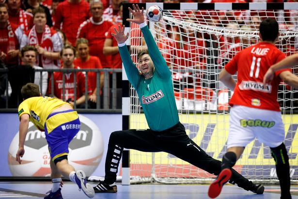 Niklas Landin startede stærk i målet, men havde derefter en dårligere periode, inden han igen viste klassen. .