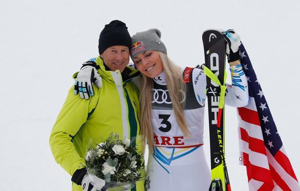 Lindsey Vonn havde overtalt Ingemark Stenmark til at komme og overvære hendes afskedsløb, der kastede en bronzemedalje af sig.