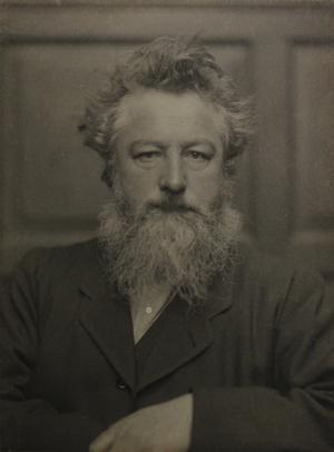 Frederick Hollyer Portræt af William Morris ca.1886.William Morris Gallery London