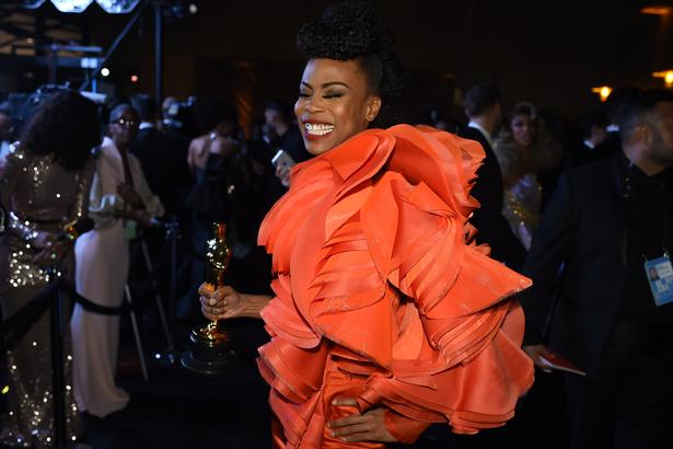 "Best Production Design winner for ""Black Panther"" Hannah Beachler attends the 91st Annual Academy Awards Governors Ball at the Hollywood & Highland Center in Hollywood, California on February 24, 2019. (Photo by Robyn BECK / AFP)"