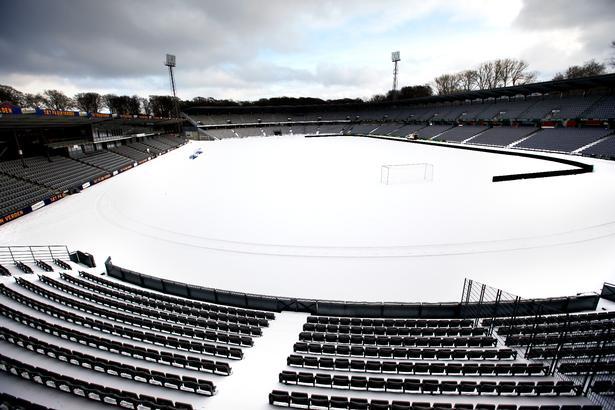 Stadion en vinterdag i 2010.