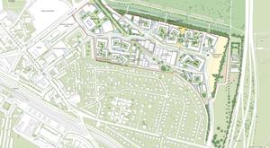 Planen for de nye bebyggelser.