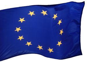 EU Flag. Fritskrab med maske.