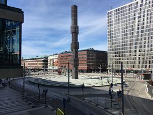 Sergels Torg, anlagt i 1968. KLIK PÅ BILLEDET FOR AT FORSTØRRE DET.