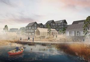 Sidste år vandt Urban Power den åbne arkitektkonkurrence om en masterplan for Huntonstranda, Gjøvik, som jævnligt oversvømmes af smeltevand fra fjeldene, og området skal derfor kunne tåle at blive oversvømmet og beskytte byområdet bag.