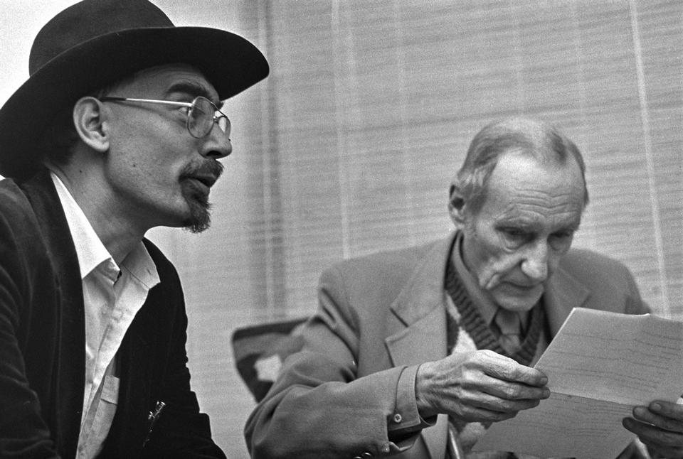 Forfatter William S. Burroughs signerer bøger i The Book Trader i 1983.