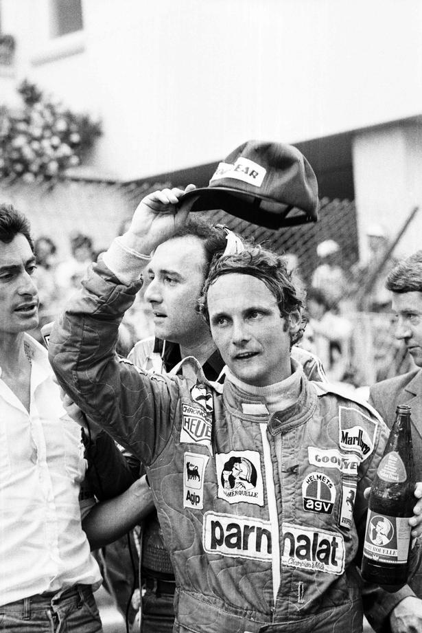 Niki Lauda i 1976 til løb i Monaco.
