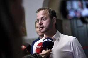 Morten Østergaard og Sofie Carsten Nielsen (RV) ankommer til regeringsforhandlinger med Socialdemokratiet på Christiansborg, onsdag den 19. juni 2019.. (Foto: Tariq Mikkel Khan/Ritzau Scanpix)