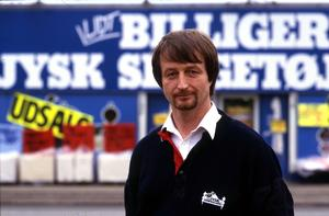 Lars Larsen, Jysk Sengetøjslager. Januar 1988. I JP 24/1 88. (Ulrich Borch/Polfoto)