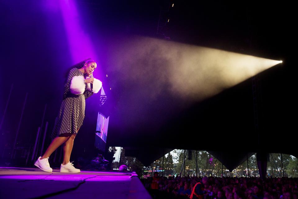 Jorja Smith, Arena, lørdag. Foto: Thomas Borberg