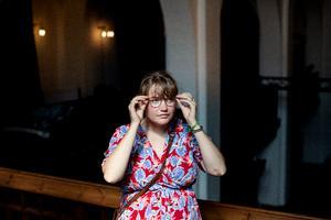 Nynne Grauslund Kristiansen har søgt ind på softwareudvikling på ITU. Her er hun i uKirke på Vesterbro København, hvor hun er frivillig. Hun håber at kunne deres hjemmeside et løft, hvis hun kommer ind på ITU.