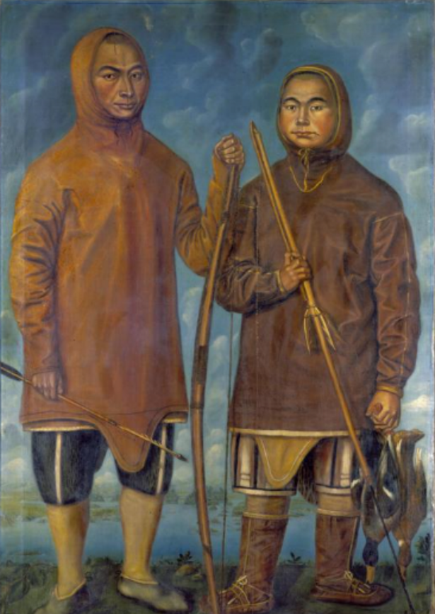 Portræt af Poq og Qiperoq, 1724. Nationalmuseet