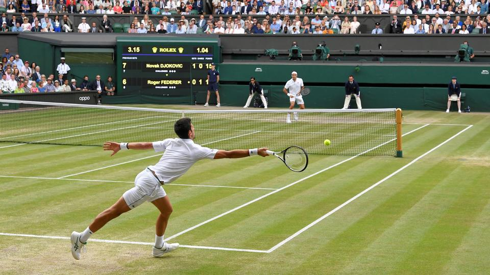 Wimbledon får vi heller ikke noget af i...