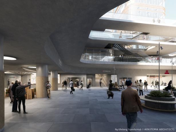 Visualisering af Arkitema Architects for Metroselskabet