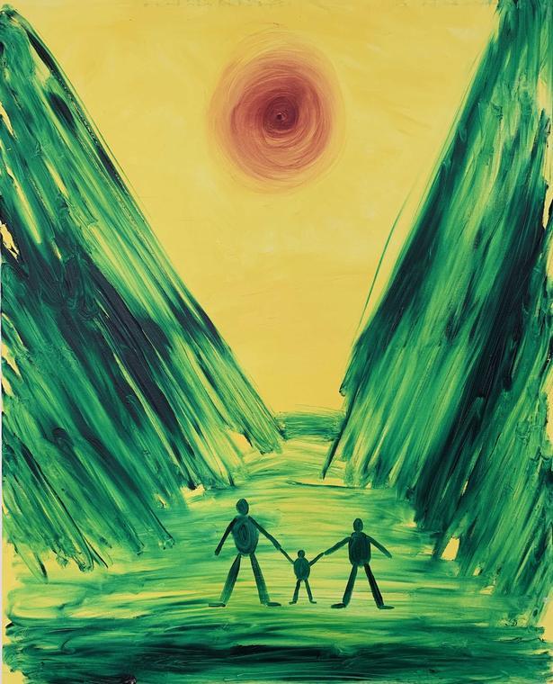 Frederik Næblerød: 'Untitled' (2019). Olie på lærred. 100×80 cm