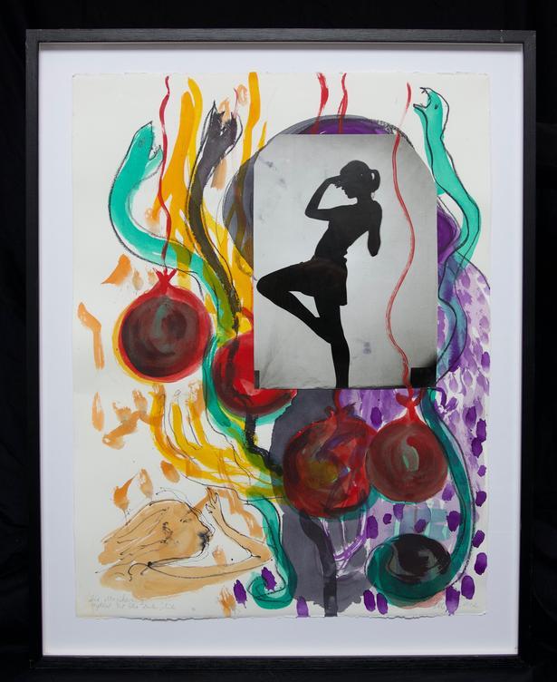 Ursula Reuter Christiansen: 'Die Magikerin II' (2012). Signeret. Collage. 77 × 61 cm
