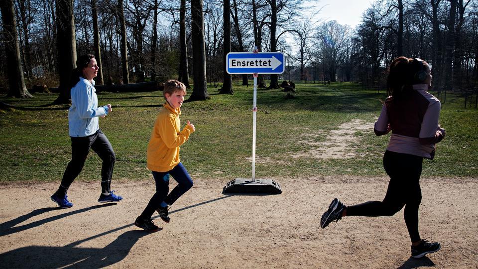 Løbere bør holde 2 meters afstand til andre