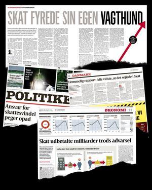 Her er et par eksempler fra Politikens dækning af skandalen i Skat.